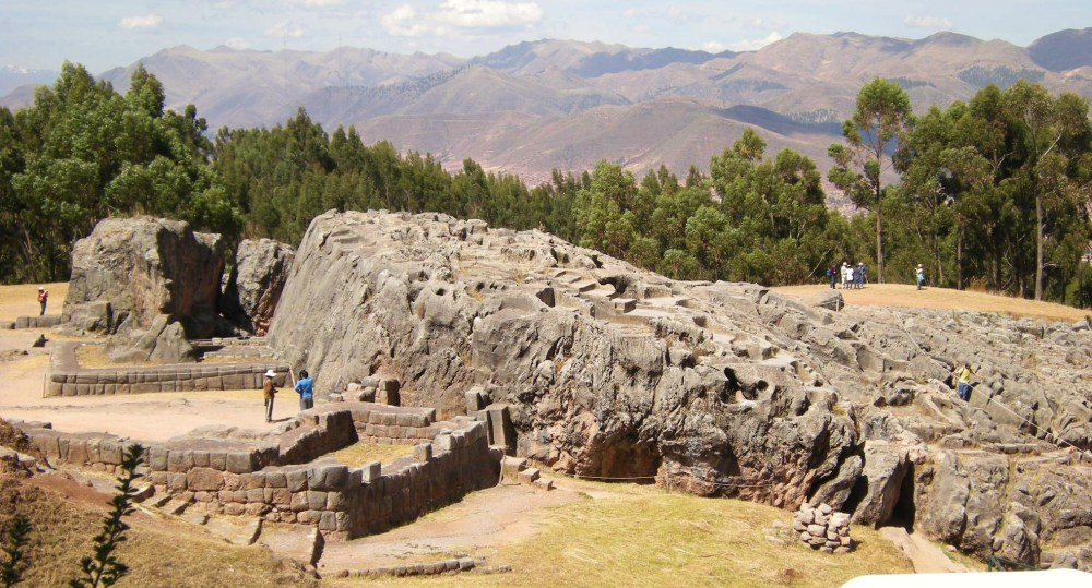 Small site of Inca ruins along the road above Cusco