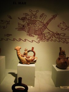 Moche pottery portraying ocean life