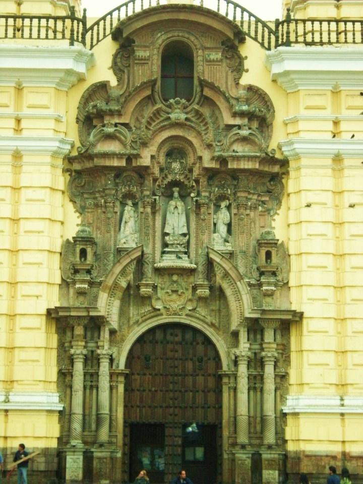Facade - front entrance, San Francisco de Asis Church