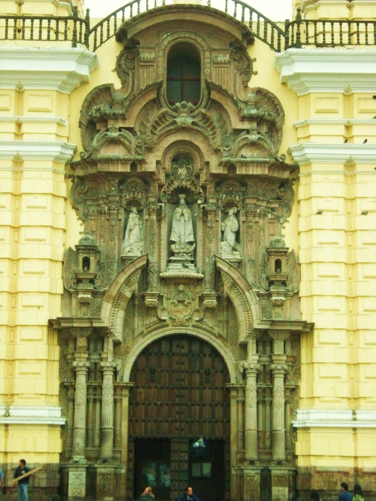 Facade - front entrance, San Francisco de Asis Church