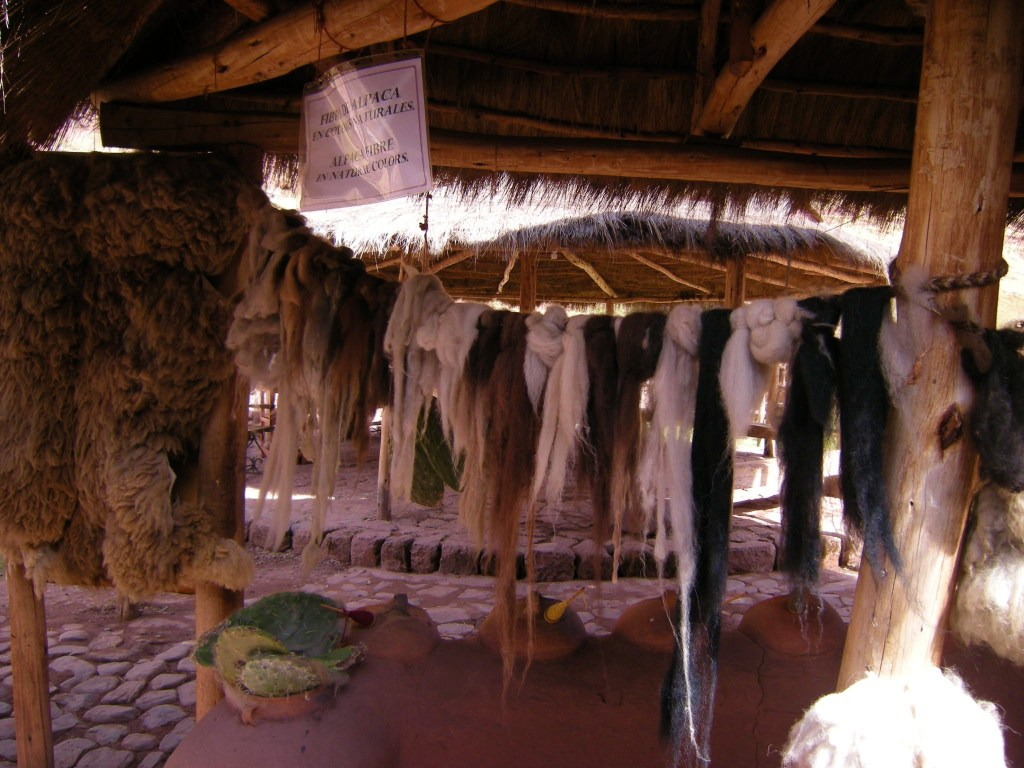 Alpaca wool in natural colors