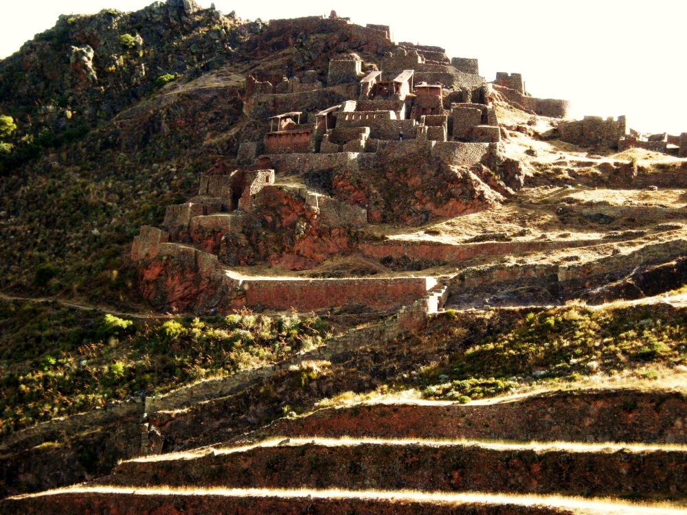Part of the walled city, probably where the agricultural workers lived. Towns were built on rocky hillsides so as not to waste good farmland.