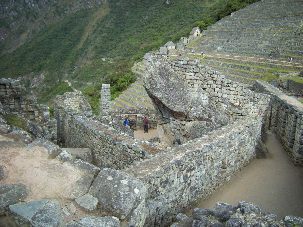 Temple of the Condor seen from above & behind