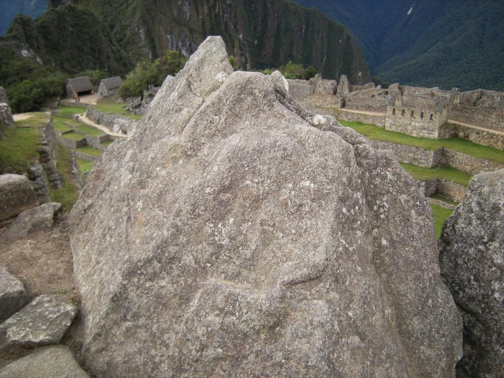 Diorama of Machu Picchu in stone