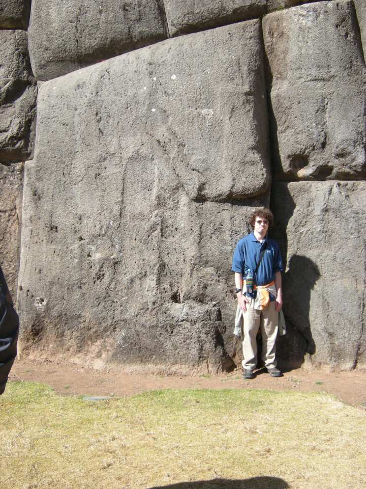 """This is my son standing next to one of the larger boulders. He's about 5'8"""" which gives an idea of how massive they are."""