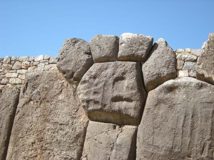 These rocks are thought to represent a head with a headress.