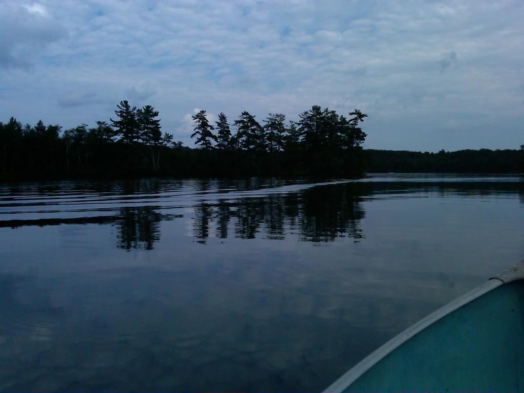 Taken with my Blackberry Bold: In the bay on south side of Upper Kaubashine Lake, Hazelhurst, WI