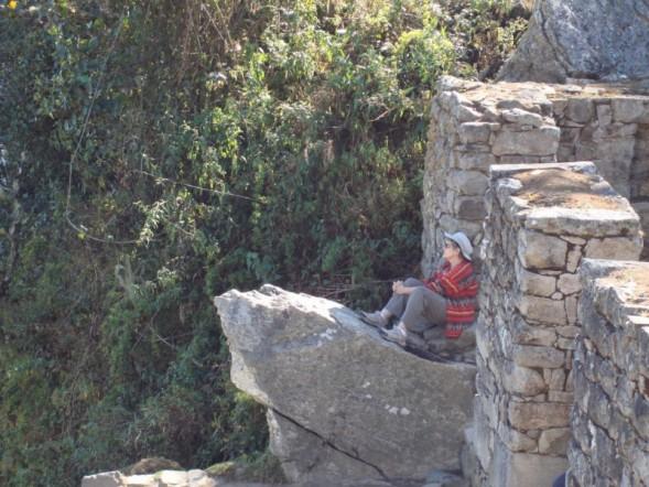Sharon in a meditative spot
