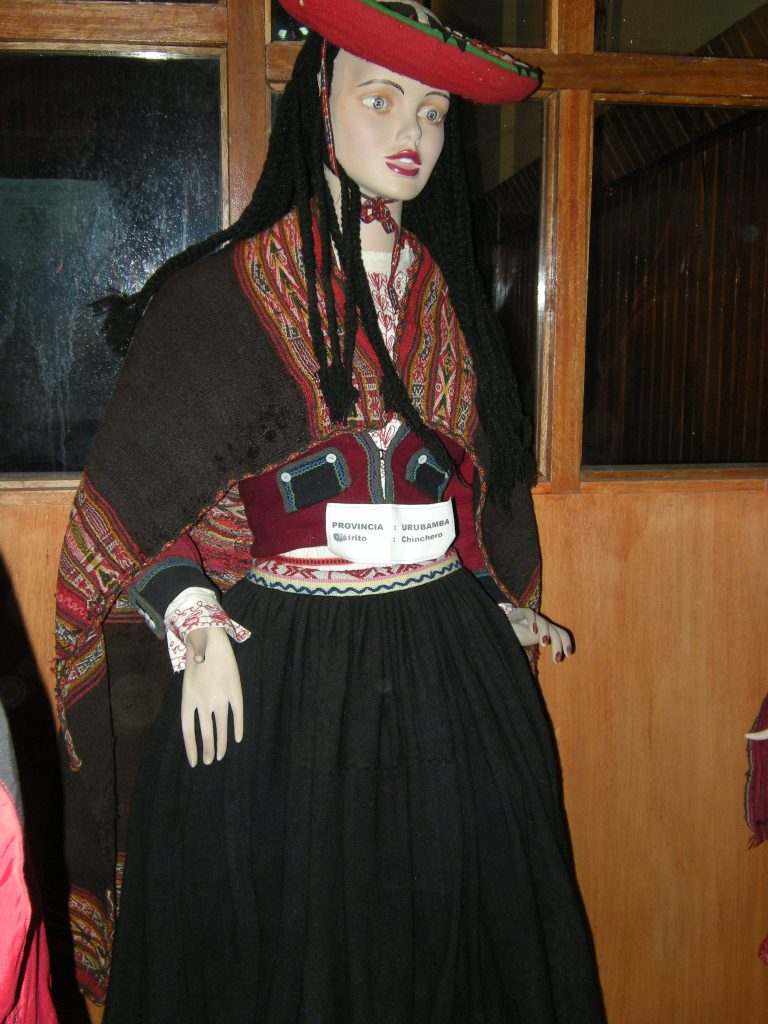 Mannequin in costume of Chinchero district, province of Urubamba