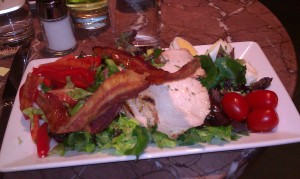 Cobb salad - my entree at the Bistro before Lyric Opera performance of La Boheme.