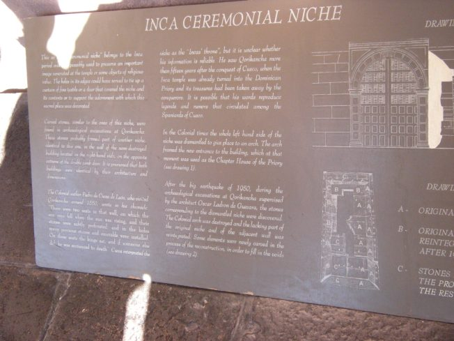 History of the Inca Ceremonial Niche