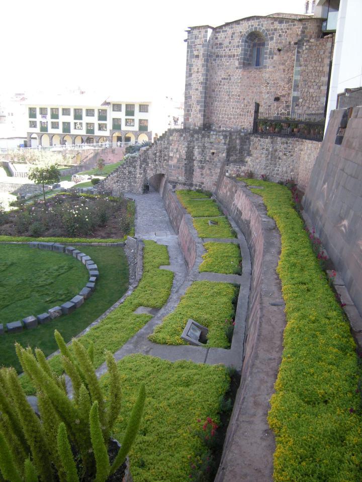 Inca terrace structure