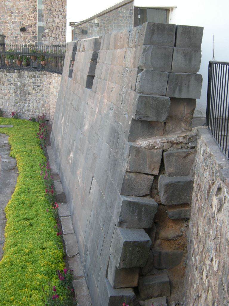 section of ancient wall of the Koricancha