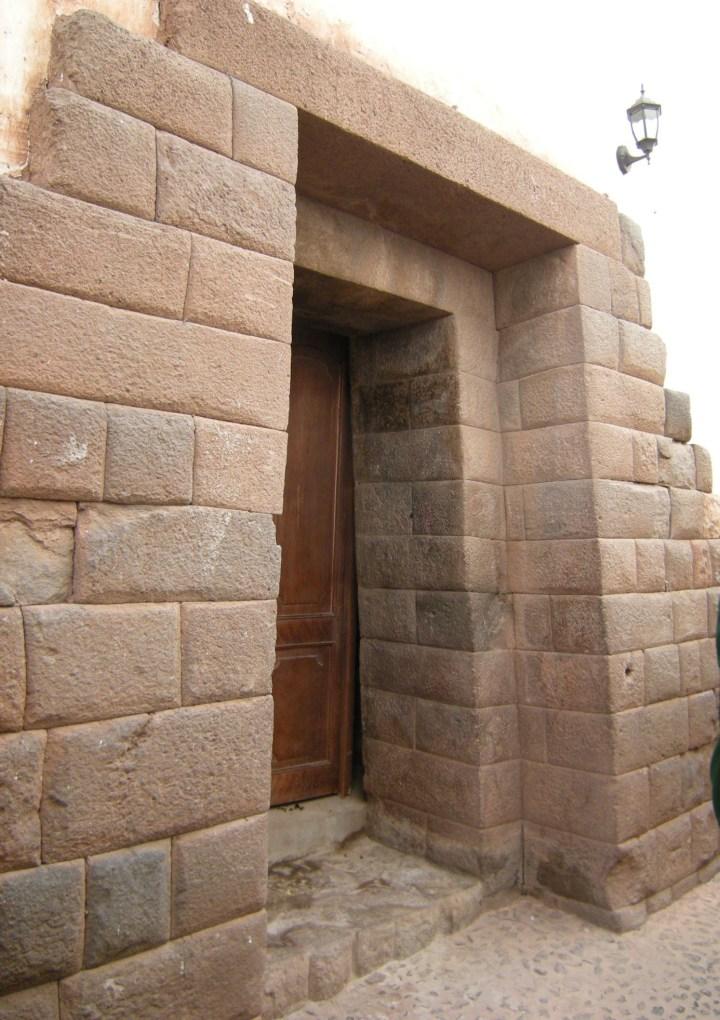 Inca trapezoid doorway