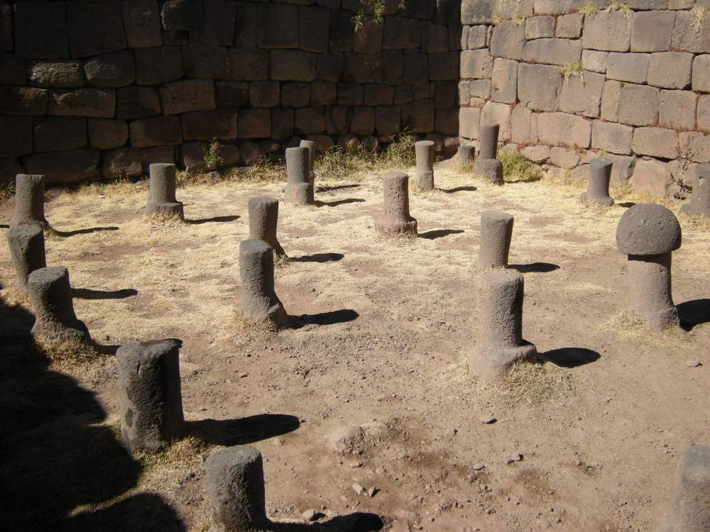"""These stones represent the male sex organ. Some point upward toward the sun god, some downward toward """"Pachamama"""" (mother earth)."""