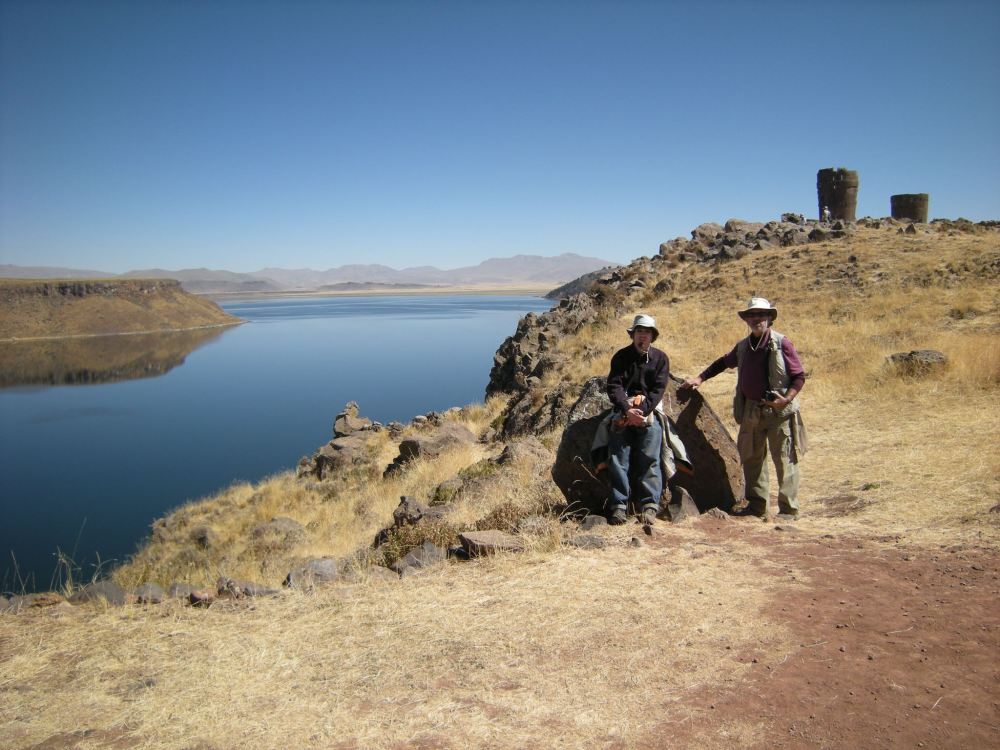 Jayme and Dale next to Umaya Lagoon