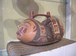 A ceramic, two-headed jar, from the Nasca culture