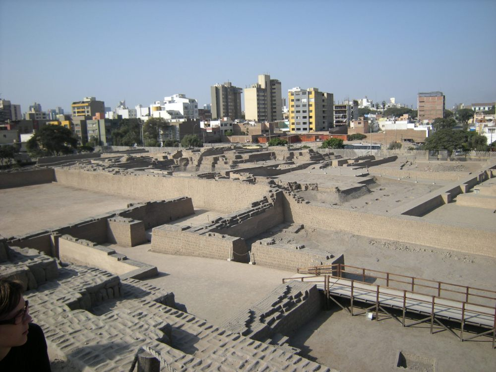 Urban Lima in the distance gives a perspective of the expanse of this archaeological site.