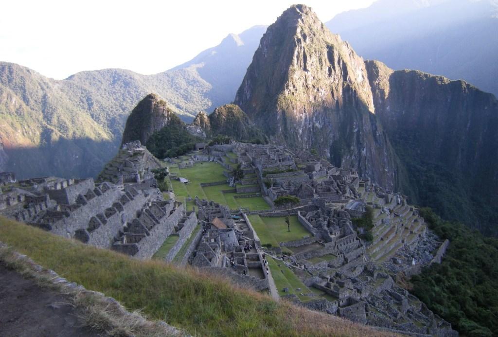 Machu Picchu at dawn, taken from the Inca Trail.