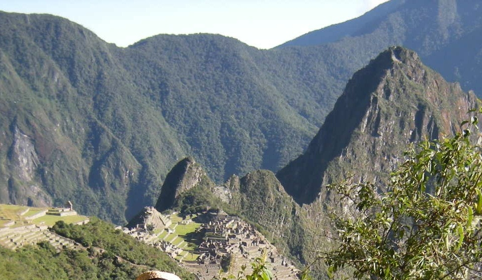 High above Machu Picchu, on the Inca Trail en route to the Sun Gate.