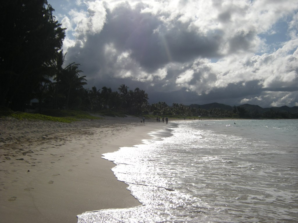 Late afternoon on Kailua Beach, Oahu