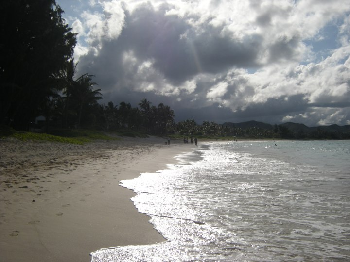 Late afternoon on Kailua Beach, Oahu