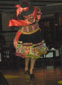 Traditional Peruvian dance, at a dinner show in Lima