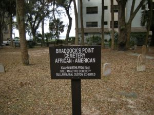 Braddock's Point African-American Cemetery is located among the condo buildings at Sea Pines resort!