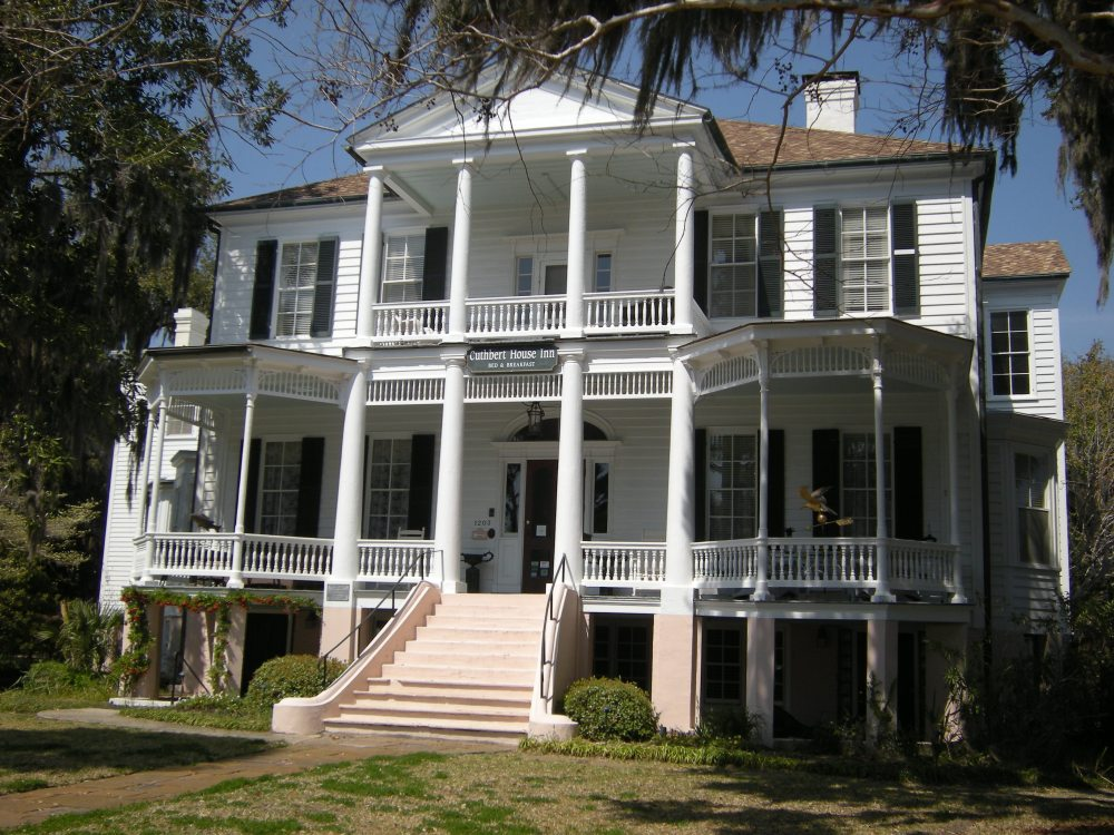 John A. Cuthbert House, c. 1810; Victorian elements added later. Now a Bed & Breakfast, Cuthbert House Inn.