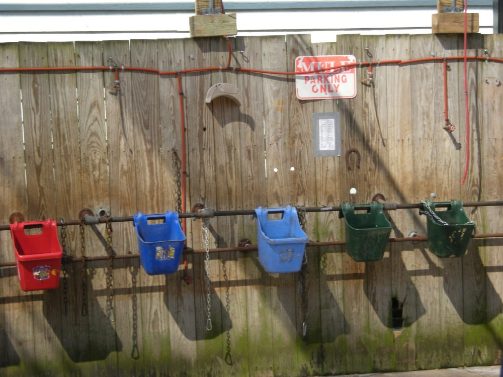 feed buckets