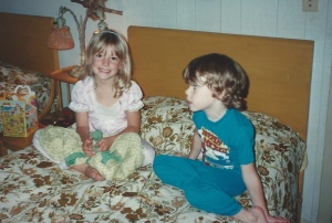 BFFs - Jayme and his cousin Julia, 2 years older, were best friends during these early years.