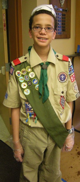 Jordan in his Boy Scout uniform