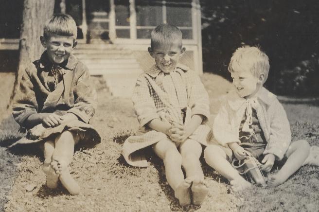 L-R: Allen P. Lovejoy, John T. Lovejoy & Robert C. Lovejoy (my father),1922