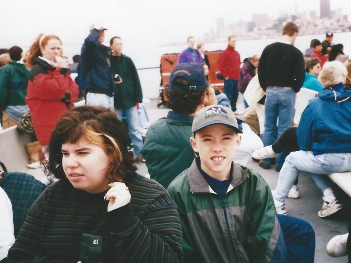 Berman/Villa-Alvarez siblings: Tamara Berman (my stepdaughter) & Jayme Villa-Alvarez (my son), San Francisco 1998