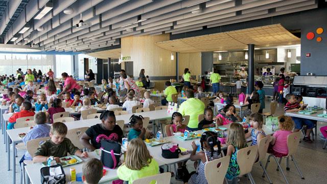 cafeteria kids