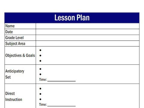 writing goals and objectives for lesson plans