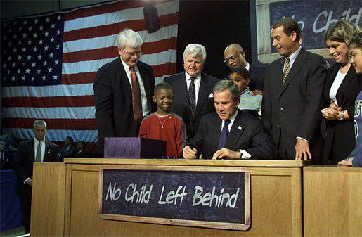 NCLB-Bush signing