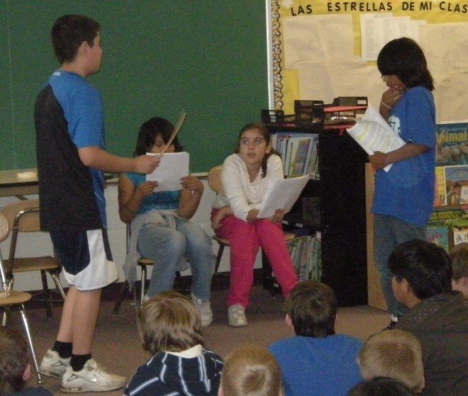 5th grade play: I don't remember the title but it had to do with the Underground Railroad.