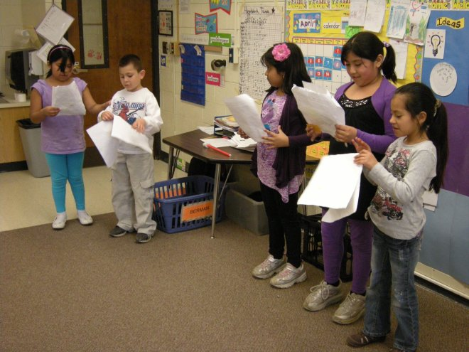2011: Bilingual second grade performed three plays. This one is