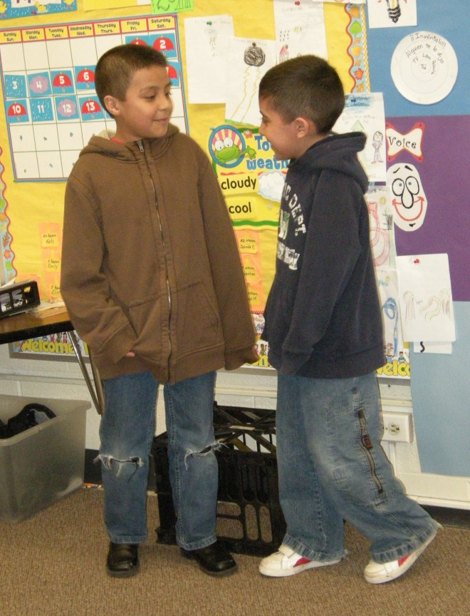 These two boys were the only ones to memorize their play! But then, it was such a natural fit for them!