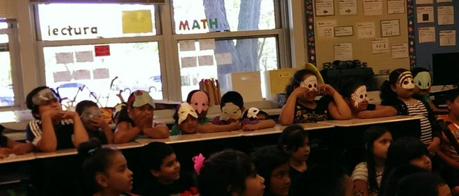I adapted this popular book about the rainforest for Reader's Theatre. One of the other program assistants made their masks.
