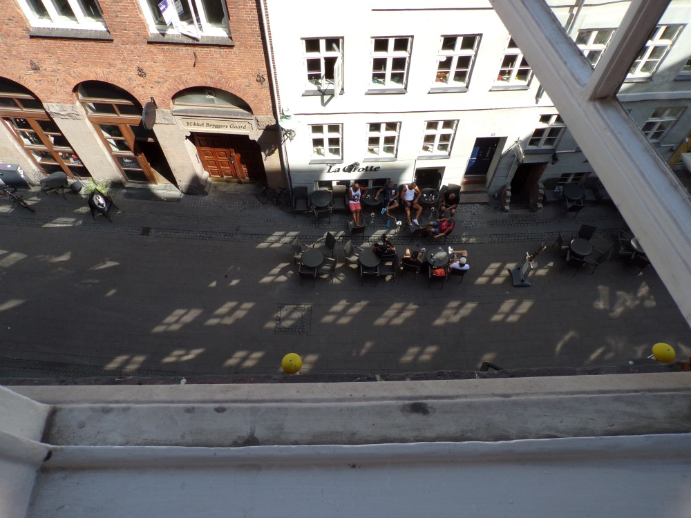 View from our hotel window - there was a noisy bar below but we were too tired for it to disturb our sleep for long!