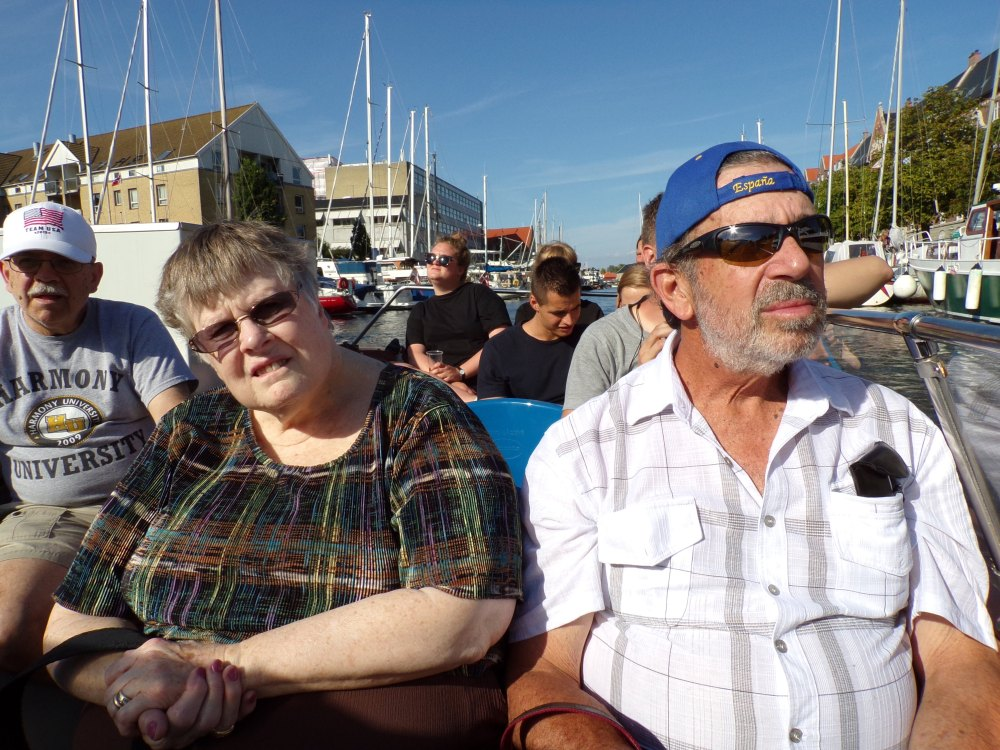 Elmer, Mary & Dale enjoying the canal tour.