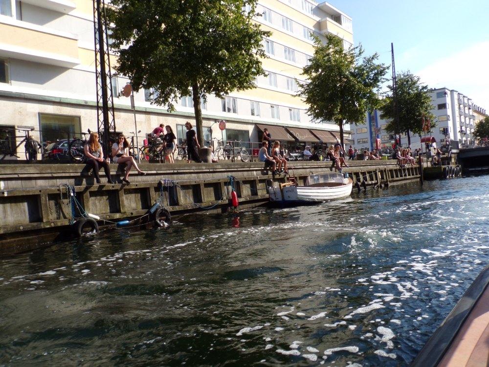 Danes enjoying a balmy evening along the canal.