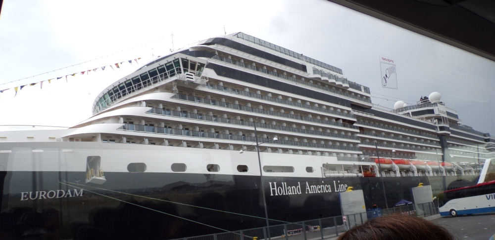 My first look at our cruise ship - my jaw dropped in awe at its massiveness!