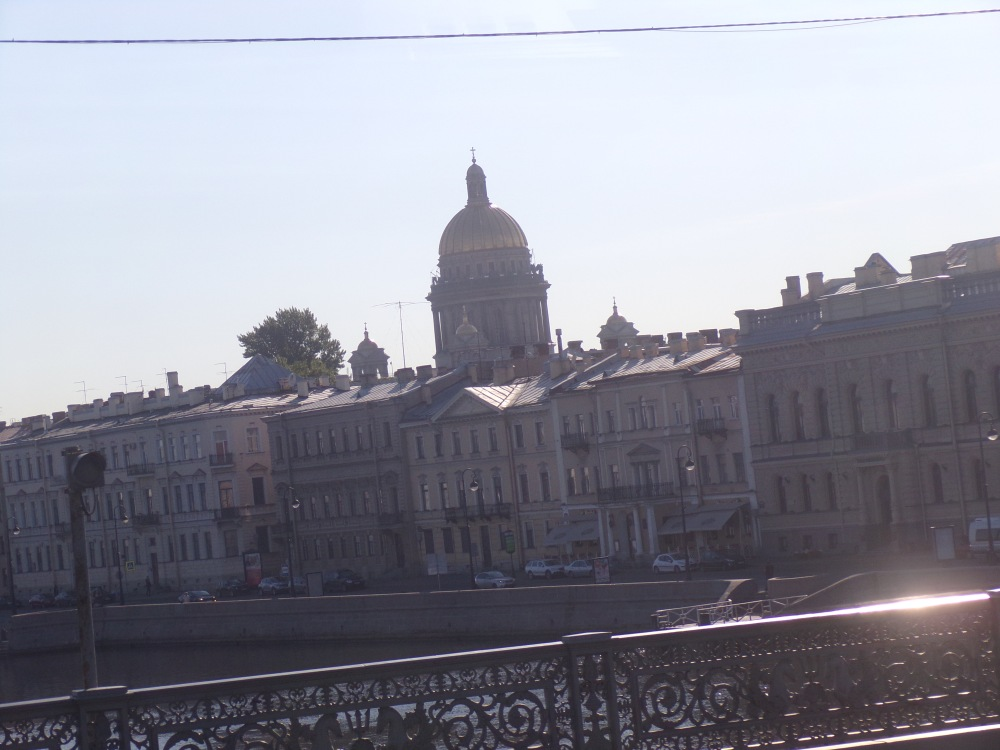 The dome of St. Isaac Cathedral is a feature of the St. Petersburg skyline.