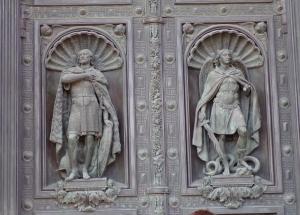 Door detail - St. Isaac
