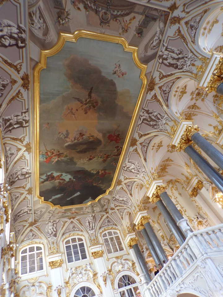 Ceiling fresco above the staircase