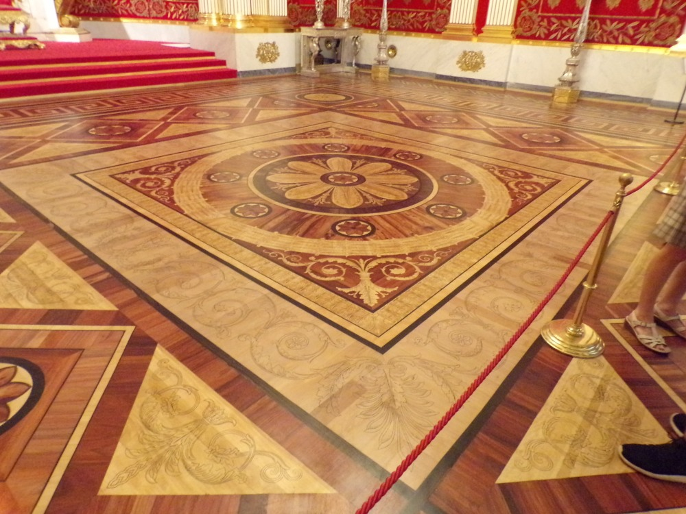 Wood floor design in the Small Throne Room