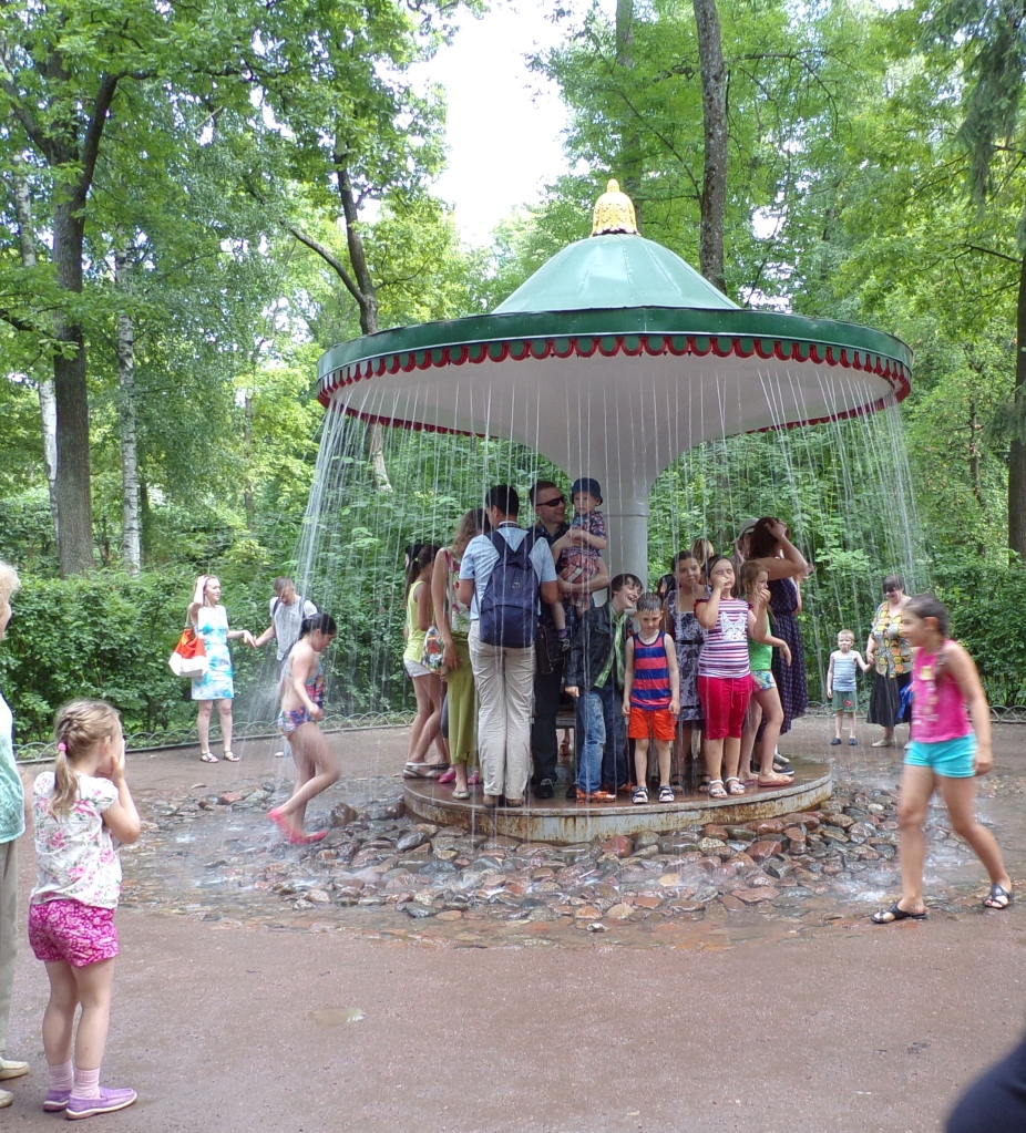 """One of the """"Joke"""" fountains - you don't know when the water will start or stop. The children love it!"""